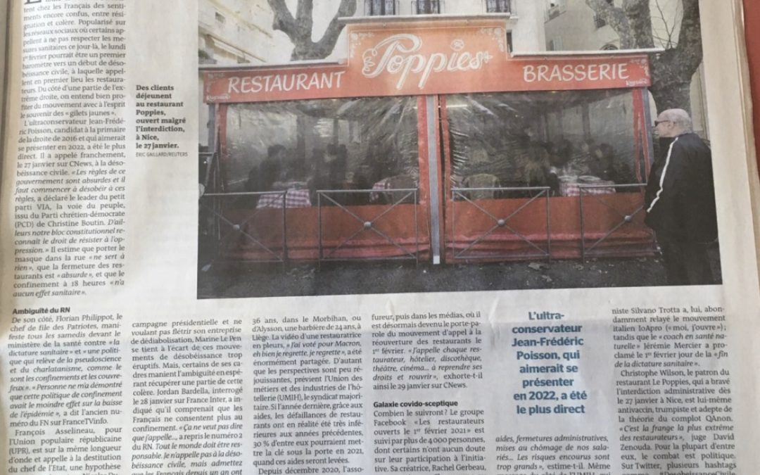 Ma première parution dans le journal Le Monde !